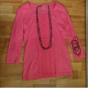 3/$25🌹 Pink Van Heusen Womens Top, Sz. XXS